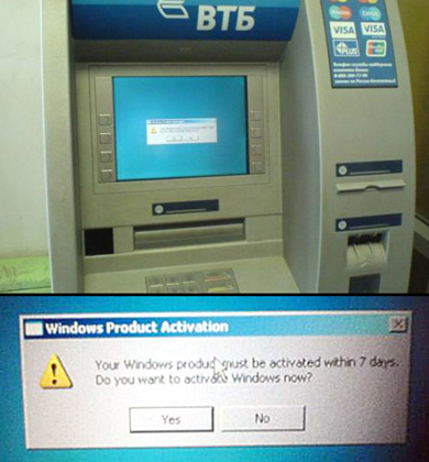 Russian ATM running Windows